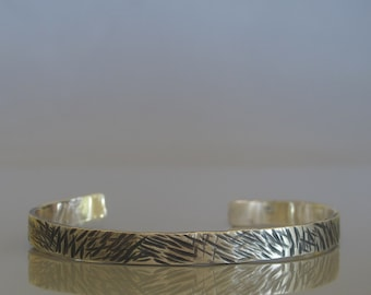 Mens cuff, Textured silver bracelet, Sterling silver cuff , Mens silver cuff bracelet, Mens jewelry