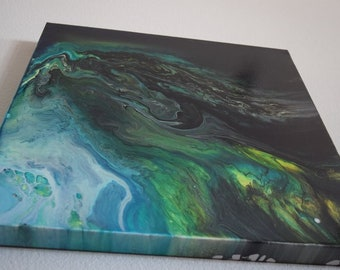 Acrylic Pour on Gallery Canvas Wall Art