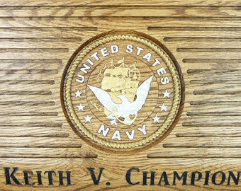 NAVY COIN HOLDER Display Custom Personalized Military Challenge Coins United States Retirement Promotion Gift