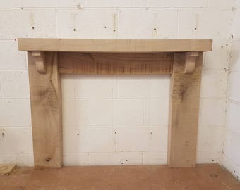 Wooden Oak Fire Surround Solid Thick - Wide Mantel