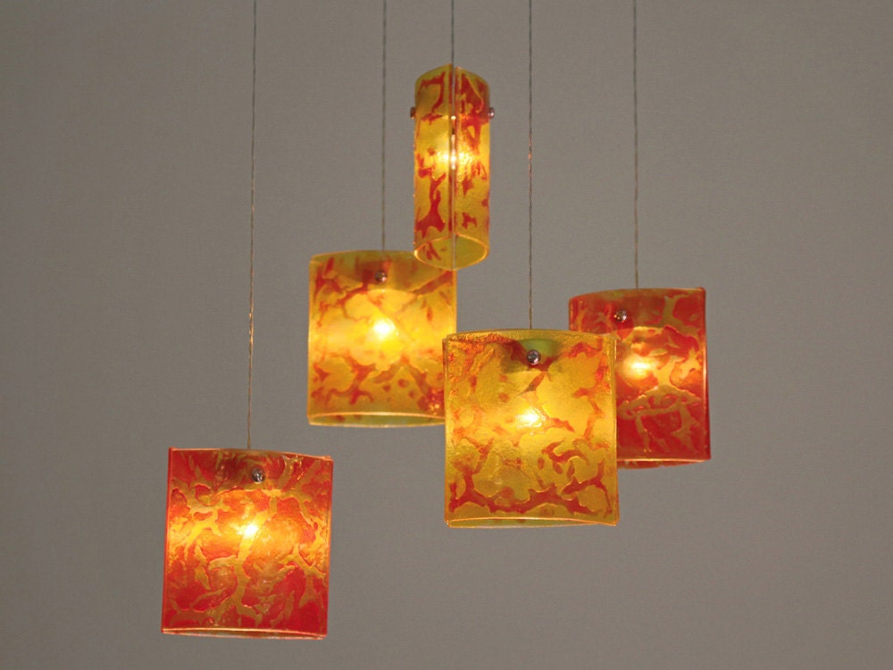 Fused glass pendant lights chandelier lighting hanging zoom mozeypictures Image collections