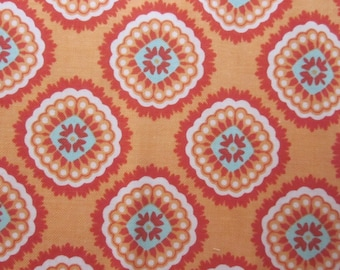 Avignon Orange Aqua Fabric Fat Quarter