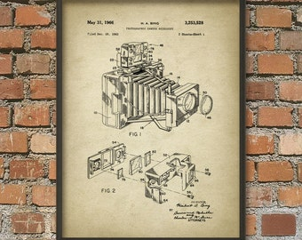Camera Patent Print - Vintage Camera Wall Art Poster 2 - Antique Camera Wall Art Poster - Photography Gift Idea - Gift For A Photographer