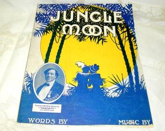 Sheet Music titled JUNGLE MOON