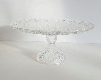 Ready to ship Crystal Cake Stand / Clear Glass Cake Stand / Wedding Cake Stand / Dessert Stand / Baby shower
