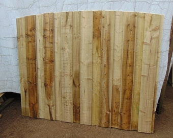 Wooden Overlap Sawn Wood Fencing - Arch Top Fence Panel