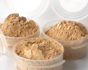 3 Mineral Foundation Samples - Delicate Formula - choose from 14 shades - Vegan Sample Set