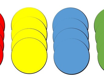 16-Pack Flexible Magnets in Assorted Colors. 2-Inch Diameter