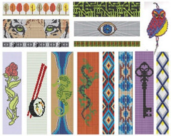 Bead Loom Pattern Collection of 19 Bracelet Designs