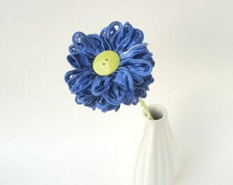 Ribbon Flower, Periwinkle Blue