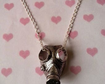 Necklace ♥ ♥ silver gas mask