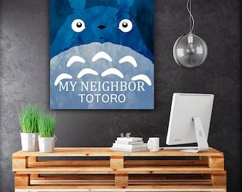 My Neighbor Totoro poster, Ghibli studio art, totoro print, christmas gift, totoro poster, minimalist totoro poster, anime prints