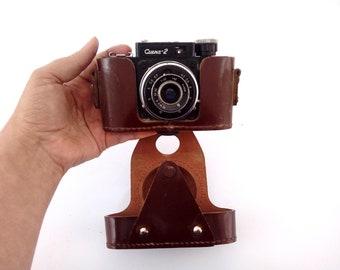 Soviet SMENA 2 Camera / Vintage USSR Camera / Retro Photo Camera With Leather Case / Old Russian 35mm Film Camera / Collectible Camera