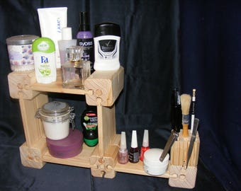 Cosmetics, shelf, wooden constructor, wooden builder, gift , natural, eco-friendly, furniture.