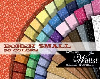 Bokeh digital paper, digital confetti texture background for digital invitation graphics printables : L0703 v301k