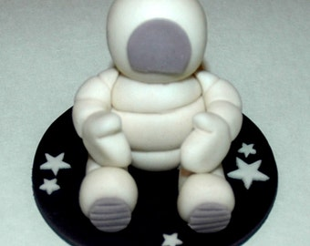 astronaut outer space edible fondant cake topper