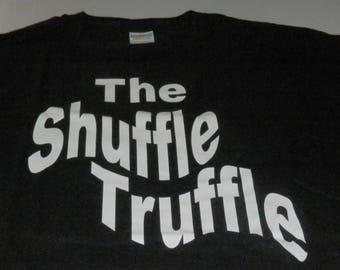 "Black Men's ""The Shuffle Truffle"" Shirt New Custom Made Size XLarge"