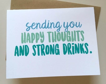 Sympathy Card - Thinking of You Card - Break Up Card - Comfort Card - Empathy Card - Get Well Soon
