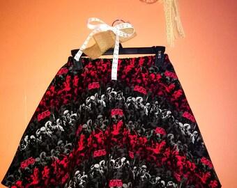 HANDMADE Walking Dead, TROLLS, Beauty and the Beast, or DISNEY Villians girls swing style skirt