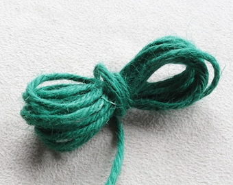10 meters of natural hemp cord Green +/-2mm