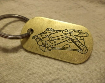 Star Wars Rebels inspired Brass Keychain
