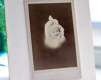 Victorian Baby Cabinet Card Photograph Vintage 1800s