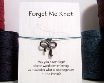 Forget Me Knot Make a Wish Bracelet