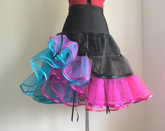 Steampunk petticoat - adjustable, multicoloured