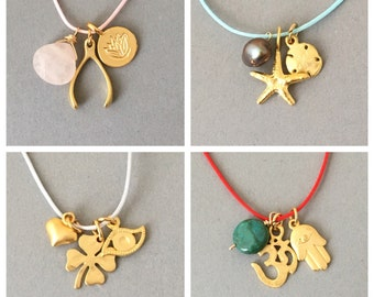 Make your Own Charm Necklace in Gold Silver