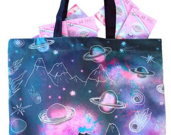 Outta This World Large Lined Tote Bag