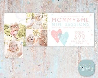 Mothers Day Facebook timeline Photoshop template - HM009 - INSTANT DOWNLOAD