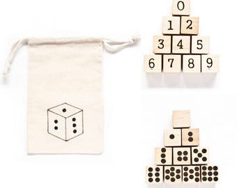 Wood Number Blocks / Wood Baby Blocks / Wood Blocks / Baby Blocks / Number Blocks / Natural Wood Blocks