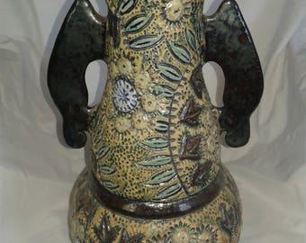 Batik Carved Vase