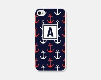Nautical Phone Case Monogram Phone Case Anchor Samsung Galaxy S7 Case Anchor iPhone 6 Case Anchor iPhone 6s Case Anchor iPhone 5 Case