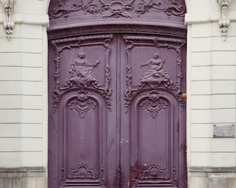 "Purple Paris Door, Paris Photography Print, Architecture Art Print, French Wall Decor, Large Wall Art, Home Decor, Travel ""Ultraviolet"""