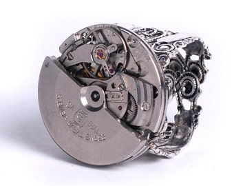 Steampunk Vintage Swivel Mechanism Watch Movement Adjustable Ring