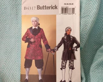 Butterick 4317 French Court men's costume pattern Colonial