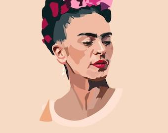 Frida Kahlo - Art Print - Portrait