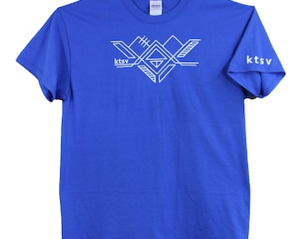 ktsv SALE! mens design blue T-shirt