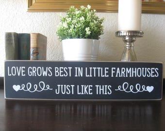 Love grows best,farmhouse wall decor,rustic farmhouse,primitive wood sign,country farmhouse,country wall decor,country home decor,wood sign