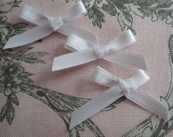 Small satin bow white sewing 4 00 * 1, 50 cm