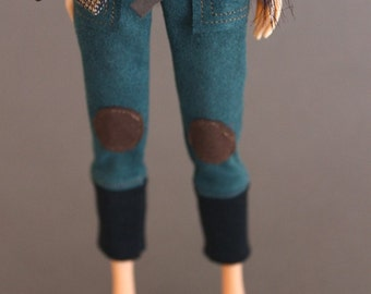 jiajiadoll-green pants -for momoko or blythe or misaki