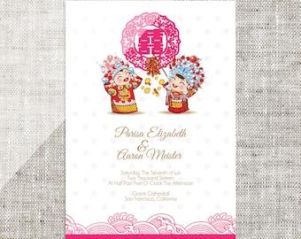 Diy printable editable chinese wedding invitation card diy printable editable chinese wedding invitation card template instant downloadtraditional china bride groom stopboris Choice Image