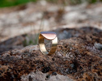 Brass and copper mixed ring