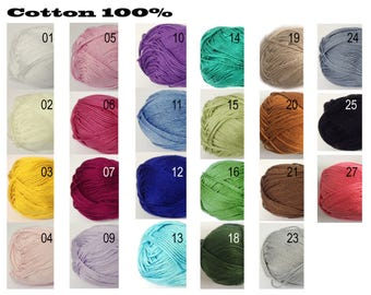Color Catalog | Bikini | 100 % cotton Lux | Summer | Top | LoveKnittings