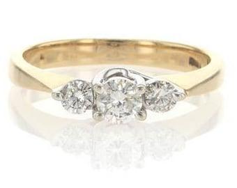3 stone diamond ring, 3 stone engagement ring, Vintage diamond ring, antique diamond ring, vintage engagement ring,3 stone ring,antique ring