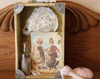 The Oyster Ladies - Found Object Assemblage Mini