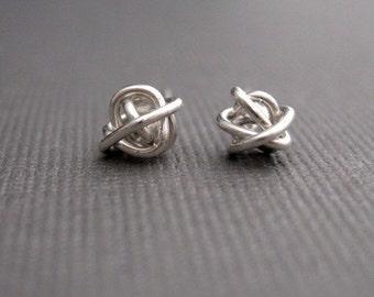 Tiny Teeny Tornado Posts sterling silver wire stud earrings