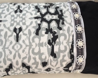 cloth furniture black and white rectangular Cushion cover
