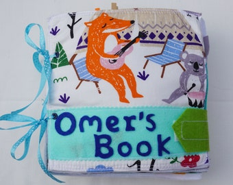 Personalized Quiet Book Cover / Felt Activity Book Cover / Birthday Gift For Toddler / Sensory Toy / Fine Motor Skills / Unique Gift /